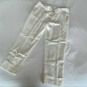 James Perse White Cotton Pants